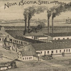 1889 Map New Glasgow Nova Scotia - Steel Plant