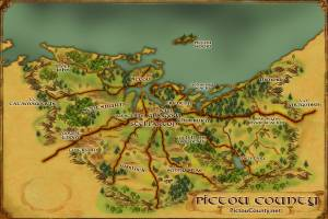 Custom Map Art of Pictou County Nova Scotia