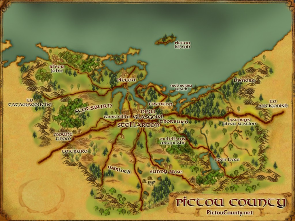 Custom Pictou County Map