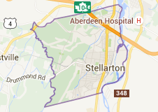 map of Stellarton Nova Scotia town limits