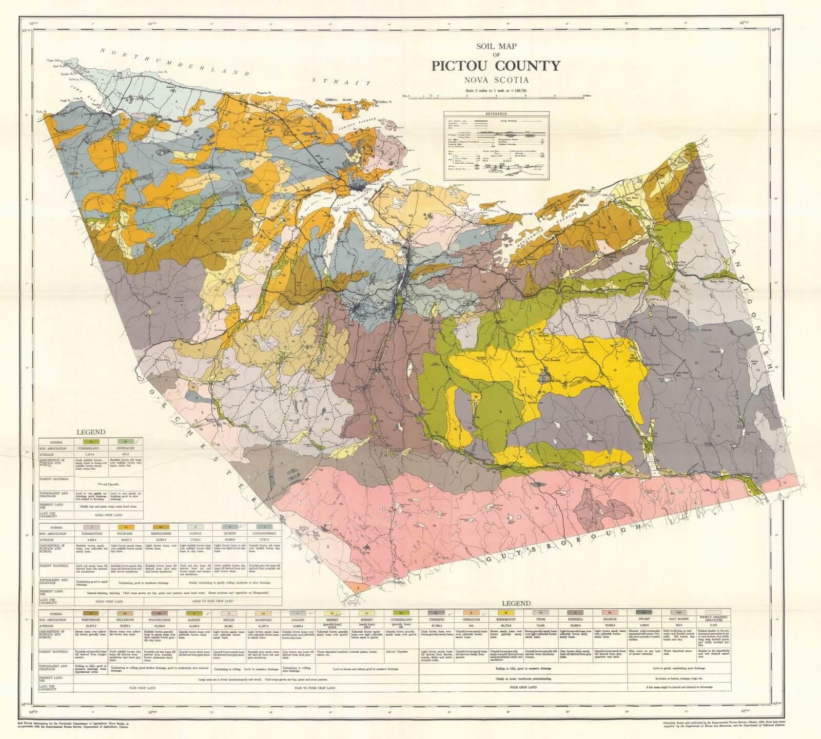 Pictou County Soils Map