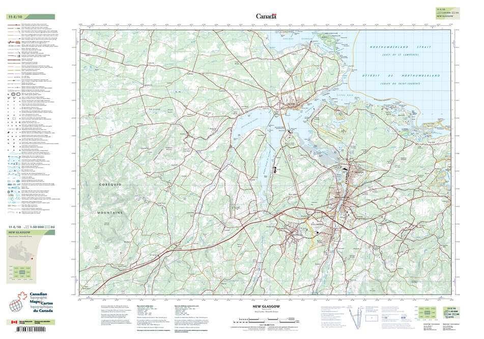 Topographic map 011E10 NewGlasgow